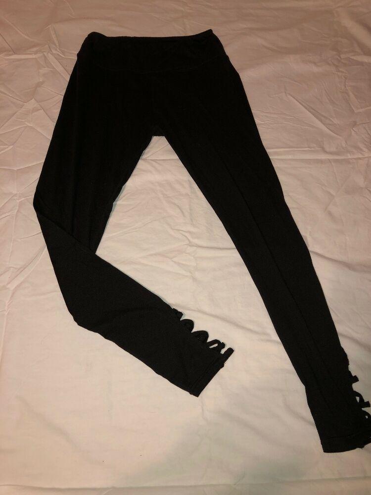 New fashion black charcoal color crochet lace ankle cotton legging pant-one size