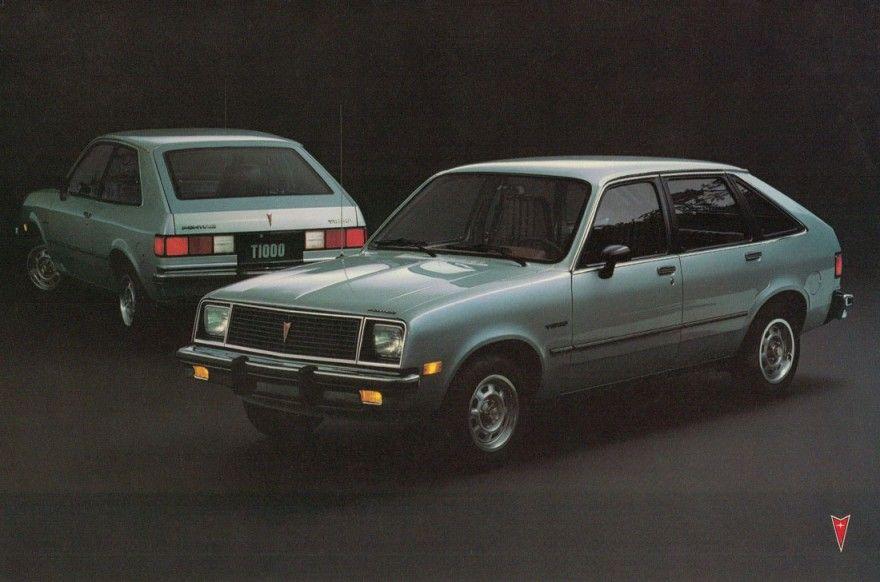 Pontiac T-1000. My very first car. Mine was white with burgundy ...