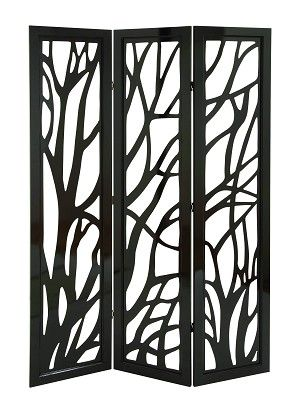 Pierced Branch Contemporary 3 Panel Wood Room Divider good for tree