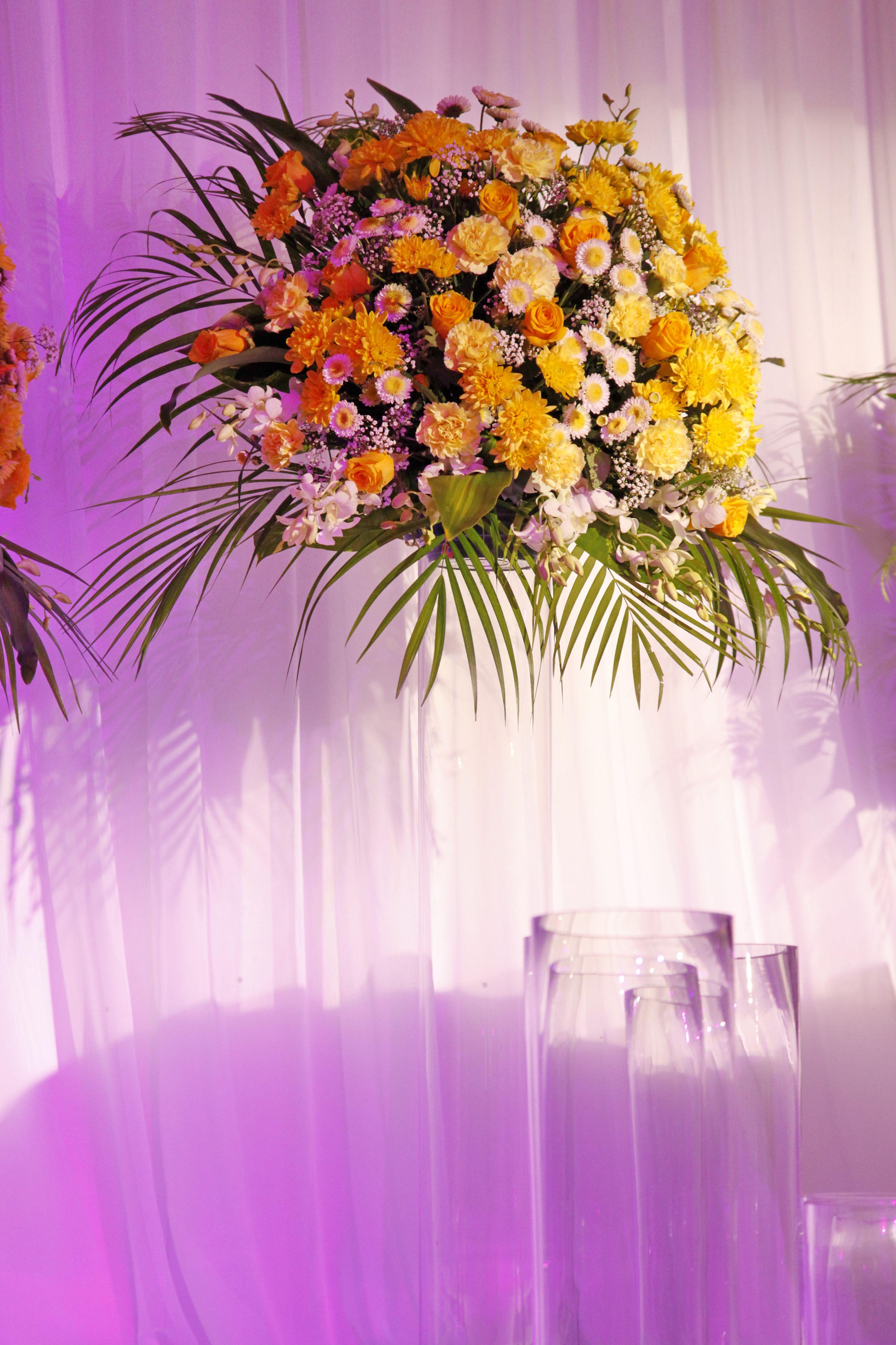 Orange Wedding Theme Floral Design Dubai Orange Wedding Pink