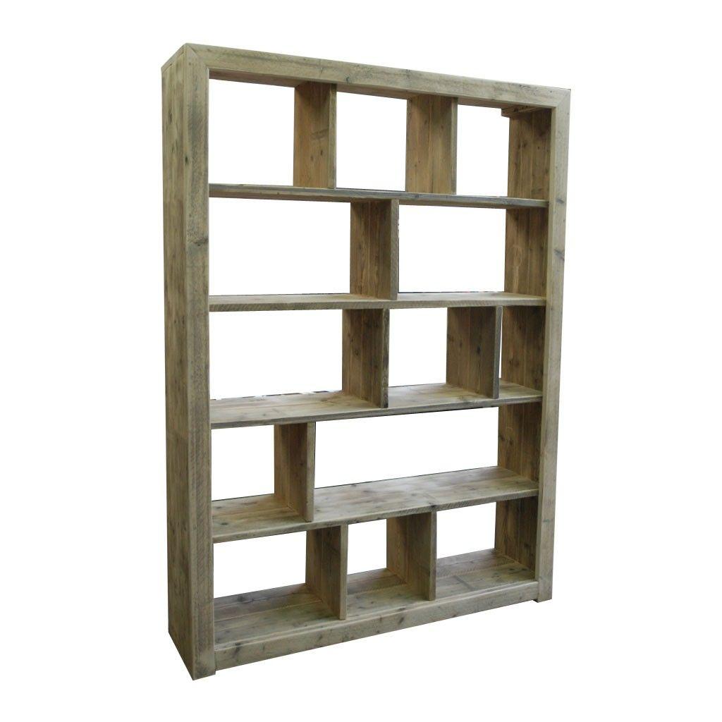 Boekenkast steigerhout google zoeken boekenkast for Boekenkast steigerhout