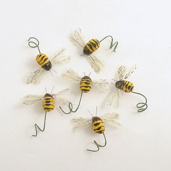 Bee Picks Bumble Bees On Wire Stems DecorationsBee PartyBouquet