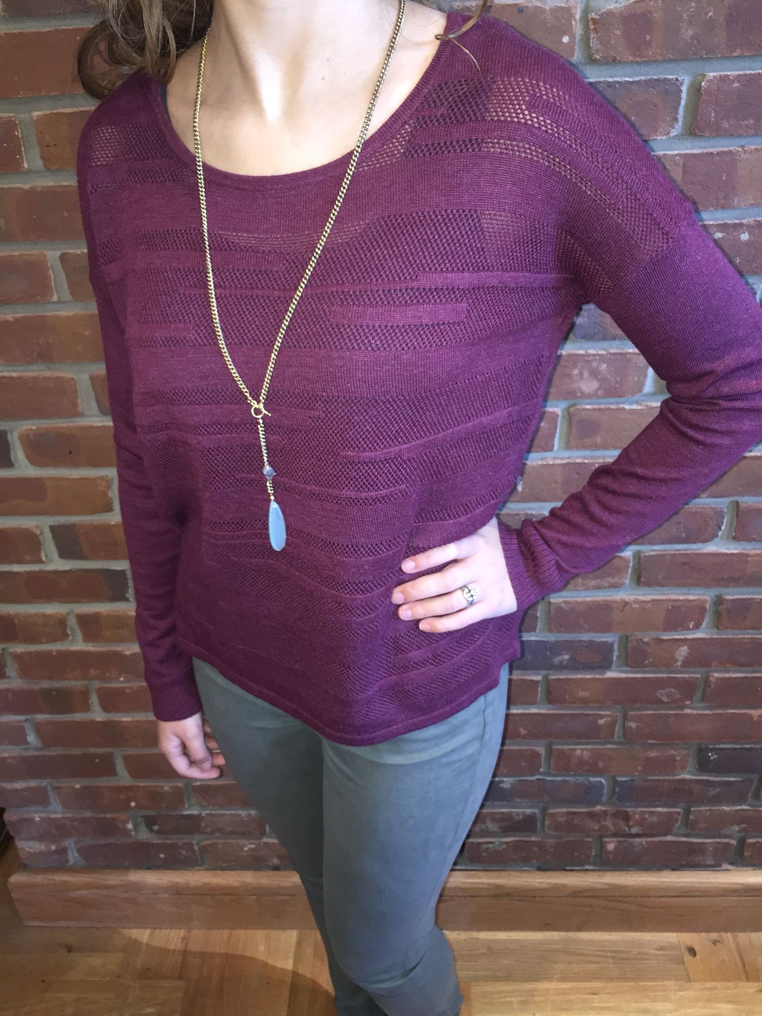 Wine + Olive!  Perfect color combo for fall!