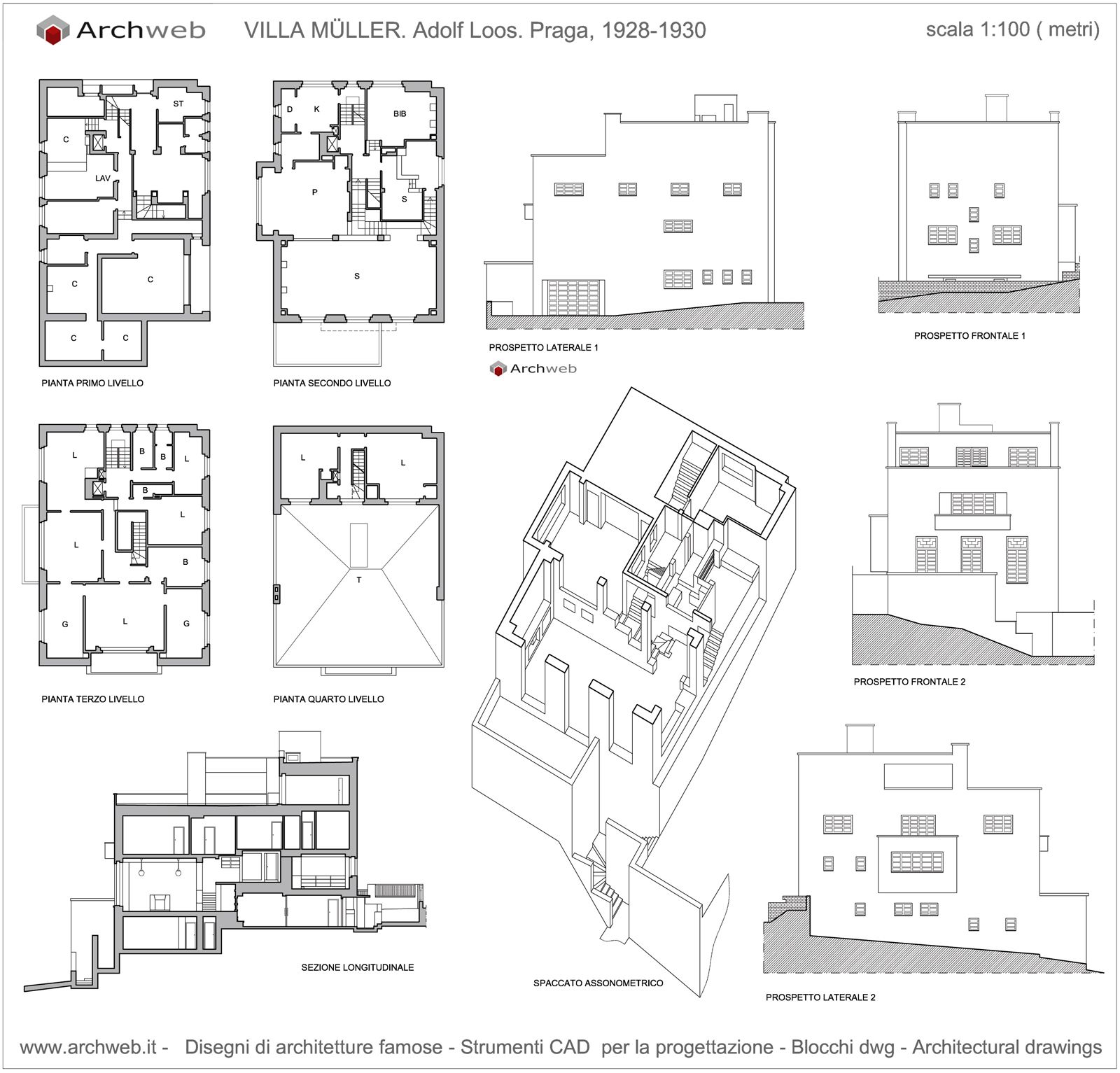 Casa muller plan drawings adolf loos pinterest for Archweb piante