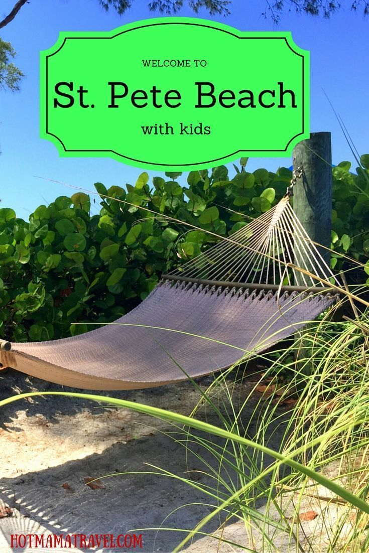 Just begging you to relax! St. Pete Beach has everything you need for the ultimate beach vacation. Click for the ultimate guide to St. Pete Beach with kids.