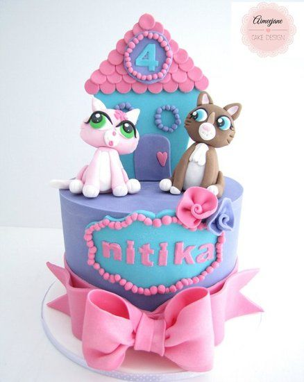 Littlest Pet Shop Cake - por aimeejane@CakesDecor.com - pastel website decoración
