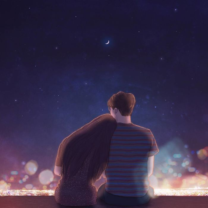 Korean Illustrator Captures The Beauty Of Falling In Love So Well You Can Almost Feel It