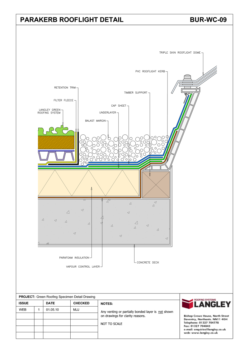 Detail Drawings Environmental Considerations Langley Waterproofing Systems Limited A Second To None Waterproofing Part Detailed Drawings Roof Light Detail