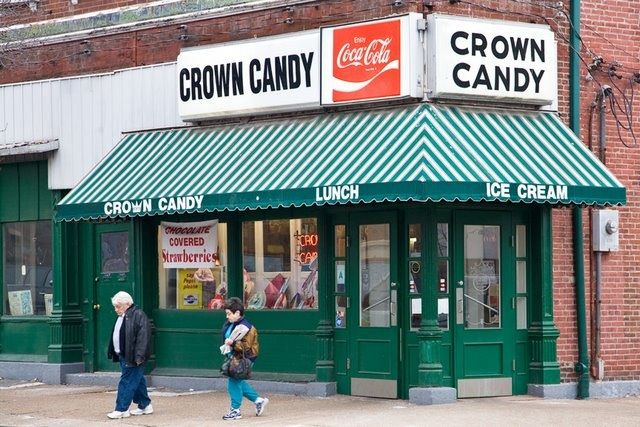 Crown Candy Kitchen.--Very long lines. Be prepared for an hour min ...