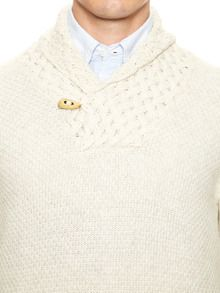 Toggle-Front Cross-Stitch Sweater by INIS MEAIN