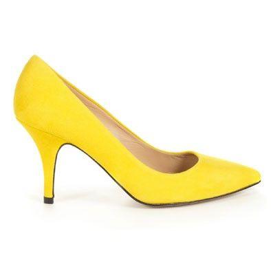 Whistles yellow Cassini mid heels