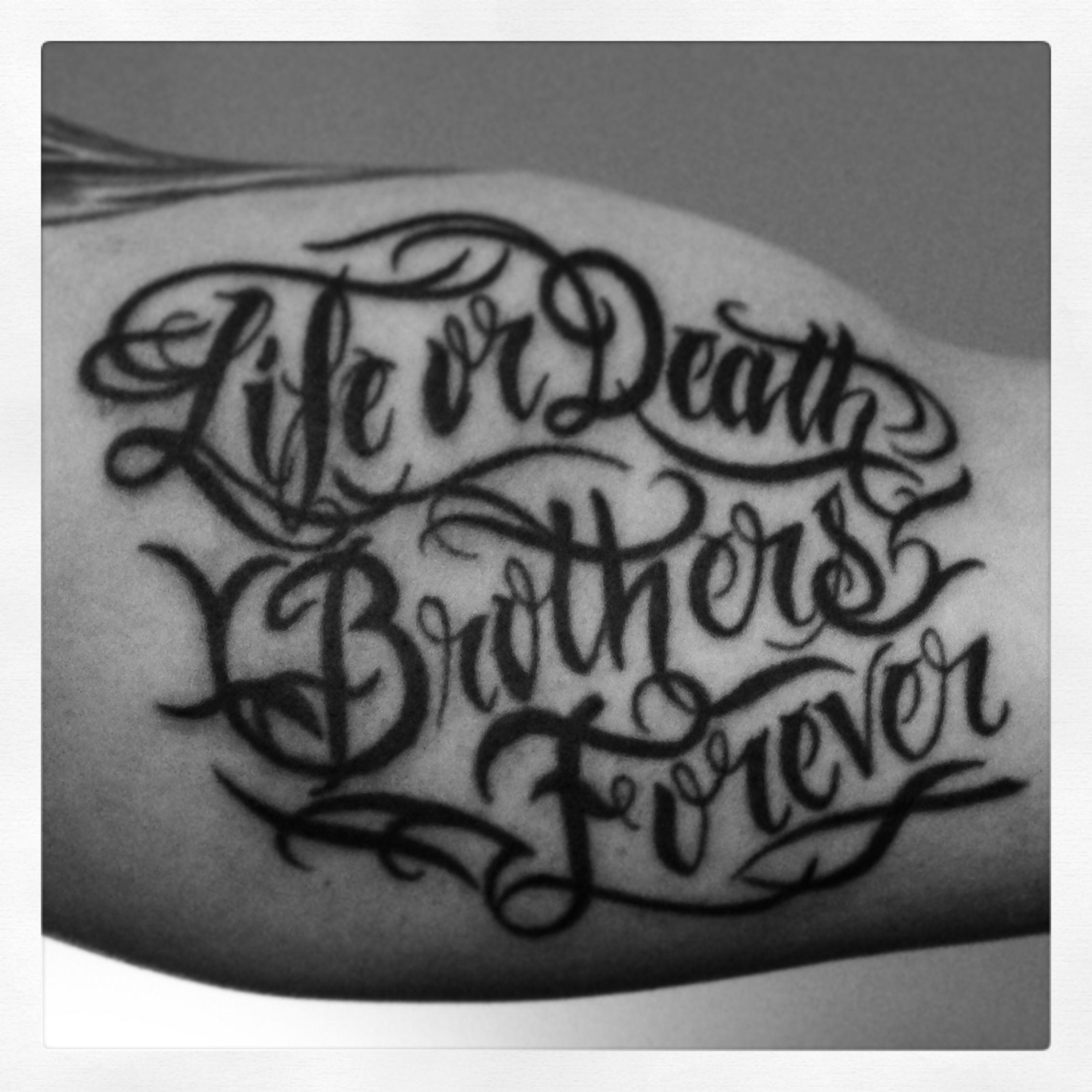 Brothers Tat Inked Tattoos Tattoo Quotes Cool Tattoos