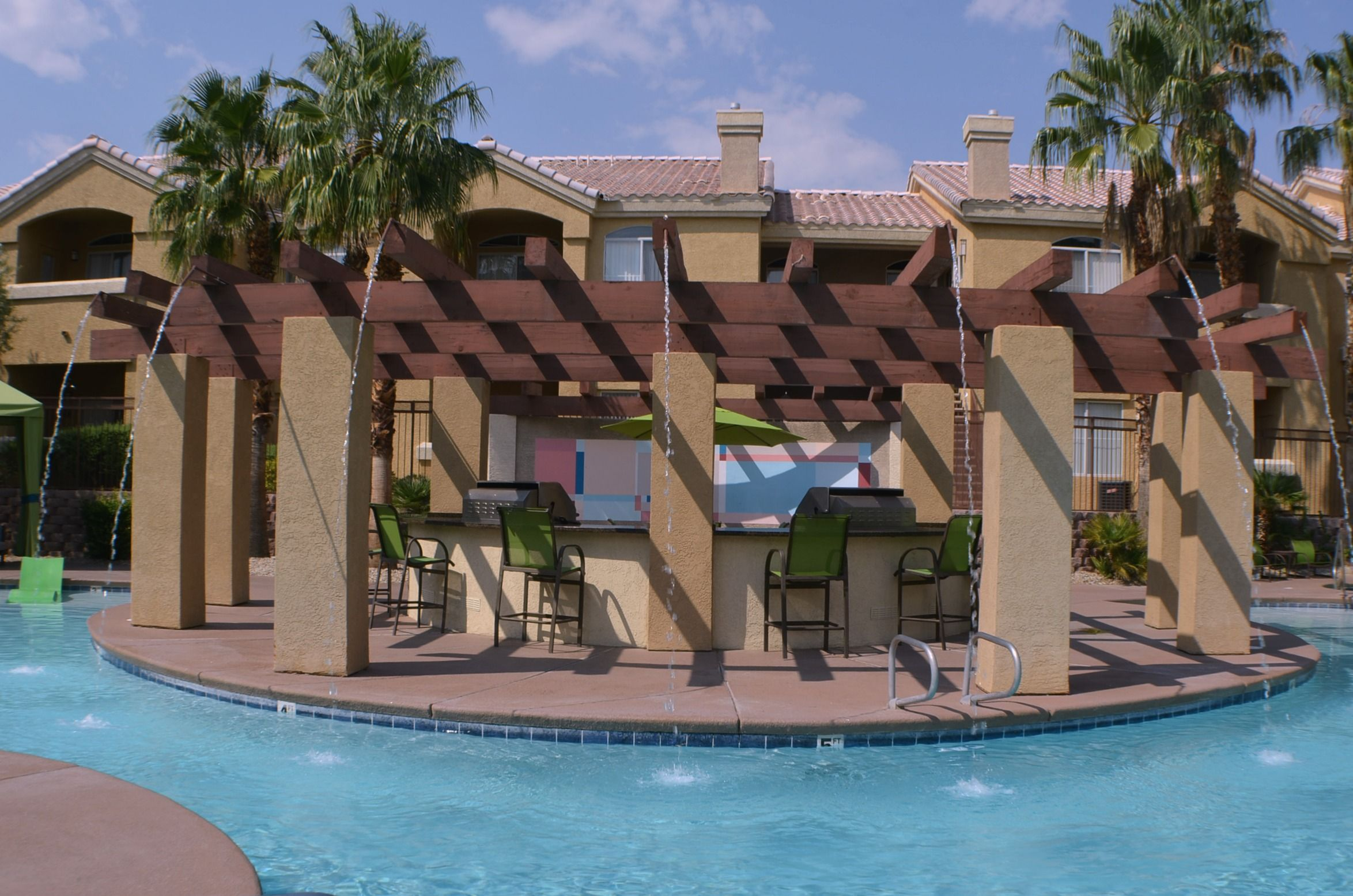 imagine spending time cooling off during desert summers at this amazing pool broadstone