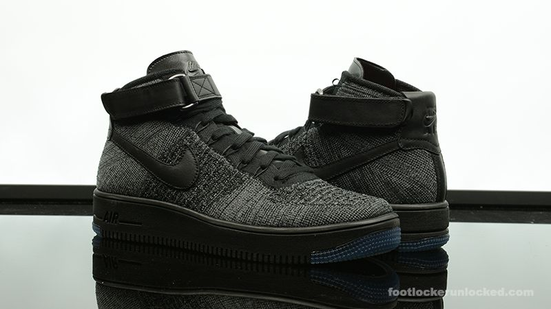 Nike Air Force 1 Ultra Flyknit Cheveux Noir / Noir / Gris Foncé / Blanc wiki pas cher 2014 plus récent boutique Feuilleter Fycq0DanPJ