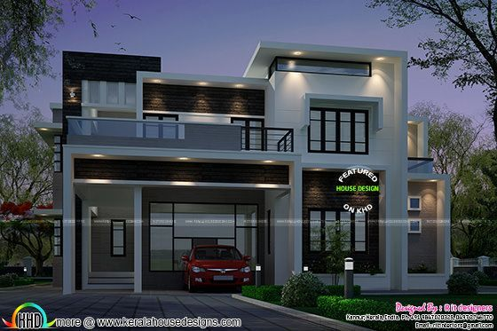 2883 sq ft contemporary style house kerala home design