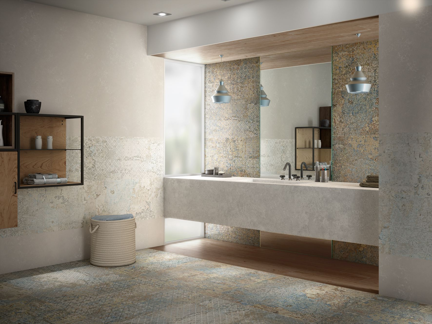 Aparici carpet floor tile part of the tile of spain for Bathroom tiles spain