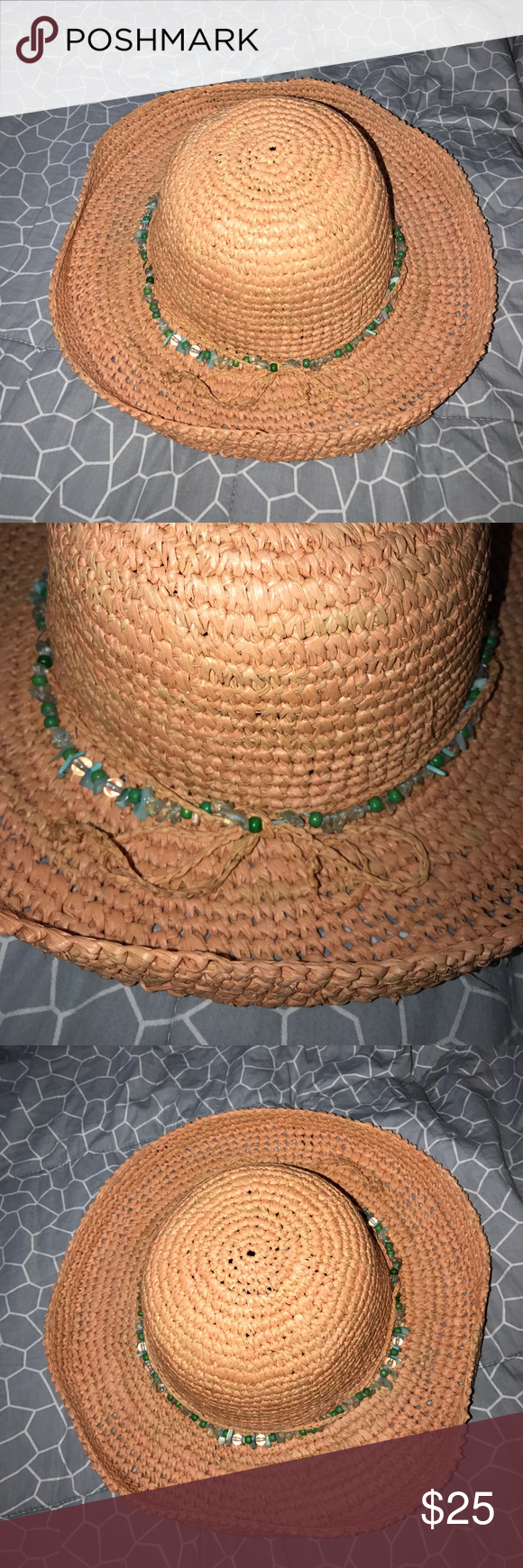 Scala 100% Straw Hat - One Size Fits Most Women s Scala 100% Straw Hat with  beaded accents! - One size fits most 0d725a811ce