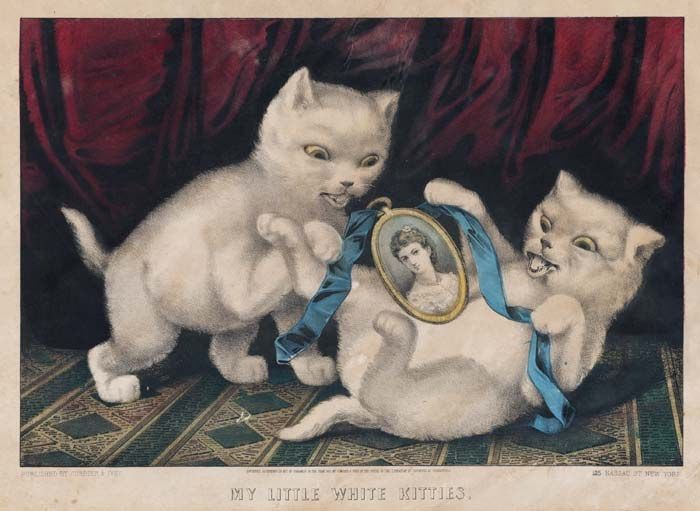 My Little White Kittens Currier Ives Currier And Ives Prints Currier And Ives Americana Art
