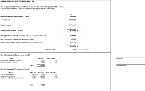 bank reconciliation template templates forms pinterest