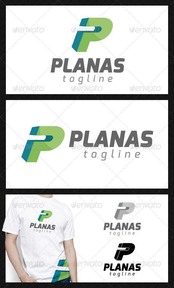 Planas Letter P Logo Template Lettering Logo Templates Letter Logo