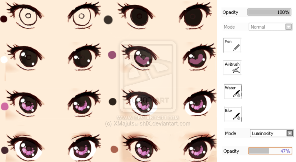 semi realistic eye tutorial by xmajutsu shix on deviantart how to