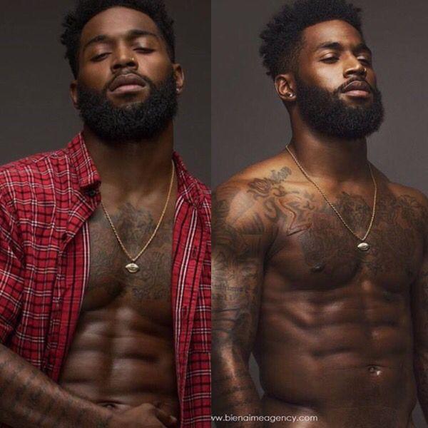 Bild von sexy schwarzen Männern