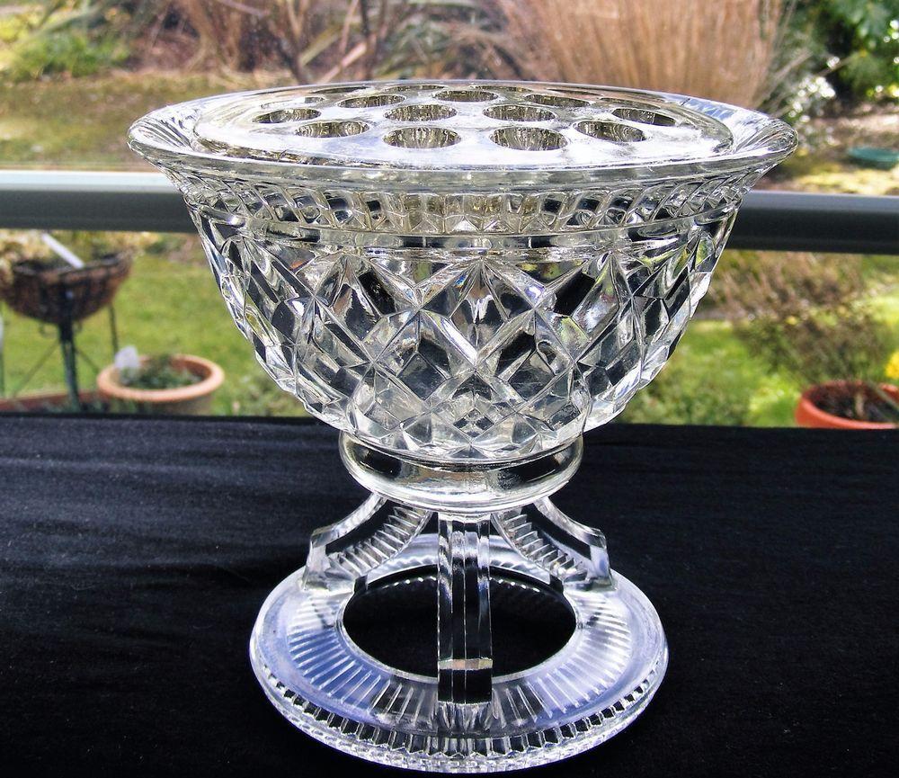Unusual Vintage Pressed Glass Flower Vase Frog On 3 Legs On Ring Stand Glass Flower Vases Vintage Pressed Glass Flower Vases