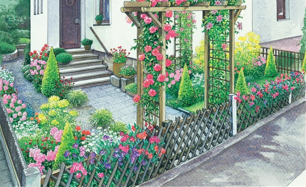 Ein vorgarten romantisch oder rustikal vorher nachher for Vorgarten inspirationen