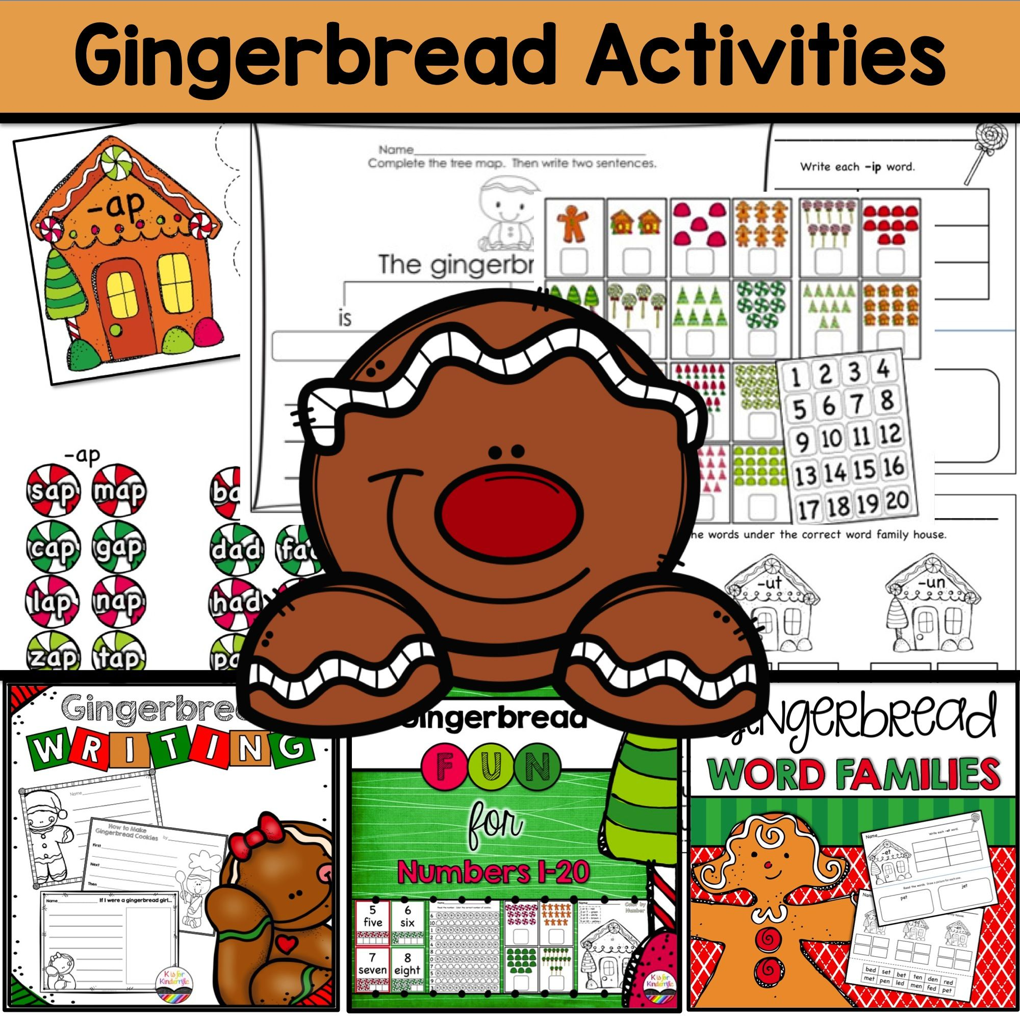 Gingerbread Printables For The K 1 Classroom Includes