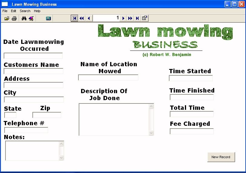 lawn mowing invoice template