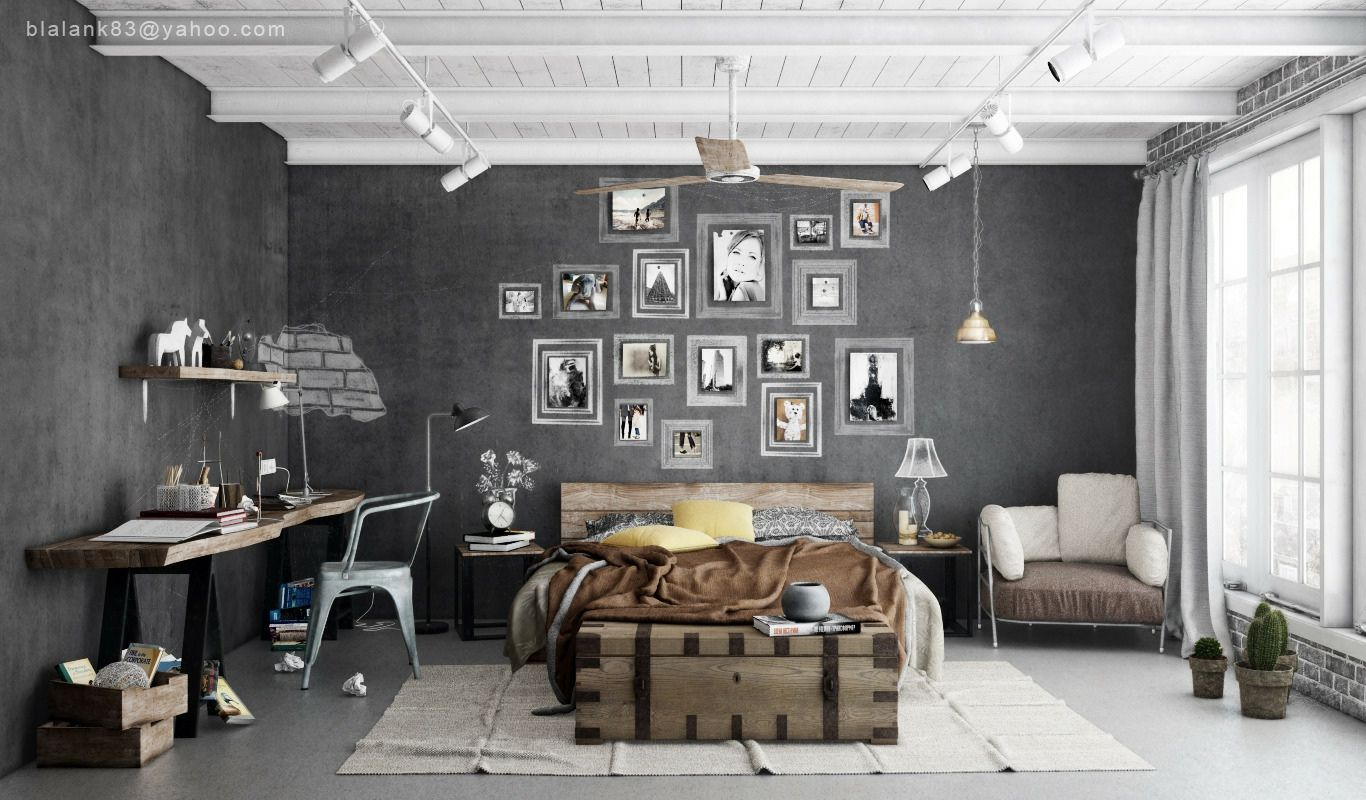 Industrial Bedrooms With Divine Detail Industrial Style Bedroom Industrial Bedroom Design Bedroom Interior