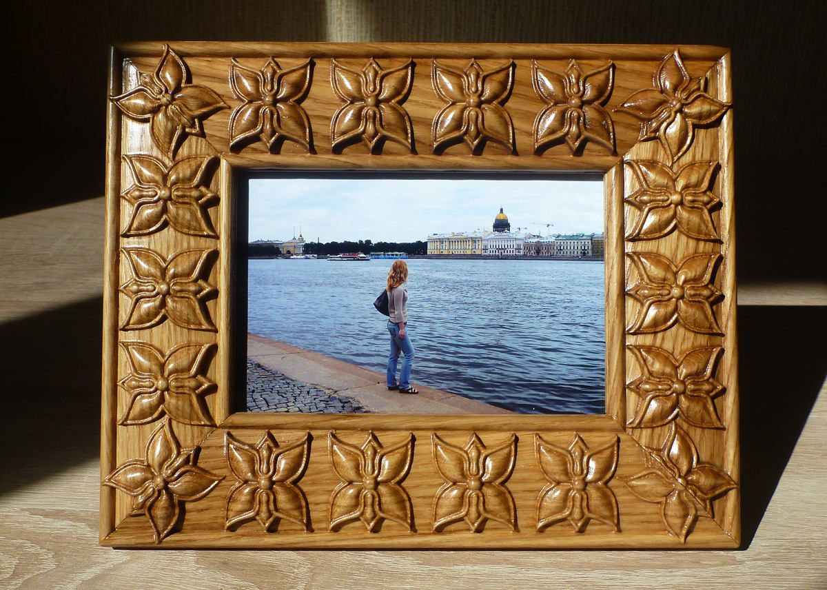 Photo Frame Oak Wood Carving For Photo 4x6 Gift Cicek