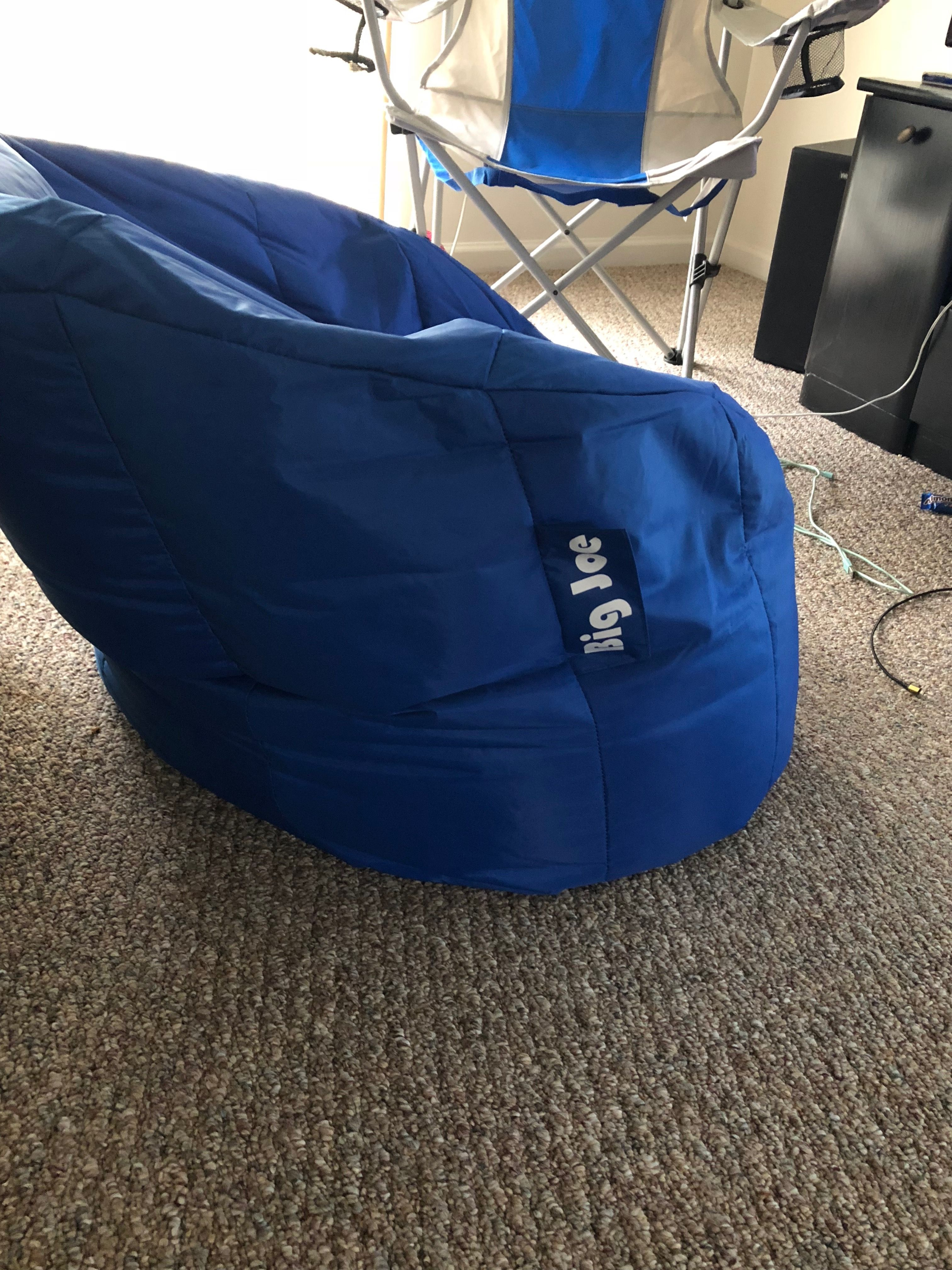 Muted (less saturated) color blue bean bag chair Blue