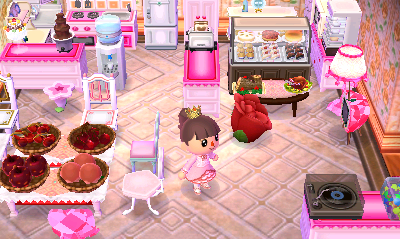 Pink Sea - kitchen is that a rose stool?!?!?! where do I ... on Animal Crossing Kitchen Ideas  id=88896