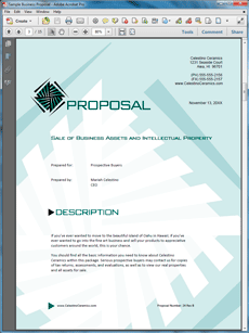 View sale of business and assets sample proposal projects to try sale of business and assets sample proposal create your own custom proposal using the full version of this completed sample as a guide with any proposal wajeb Gallery