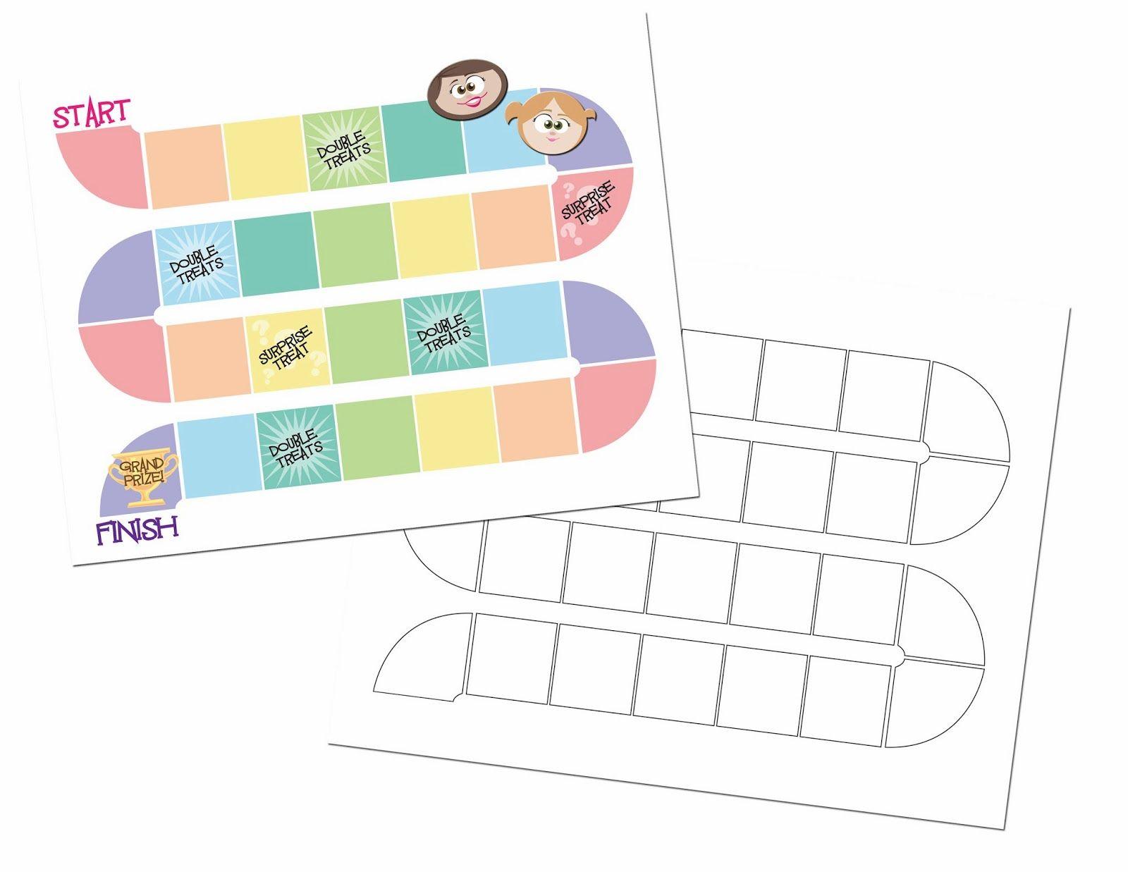 Generic Game Board Board Game Template Free Board Games Blank