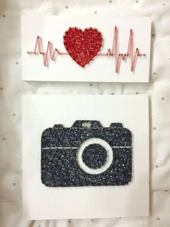String Art Rhythm Heart Beat Sign Wall Art The size: 8 x 4 inch (20 x 10 cm) We do work in the style of string art on any theme: dc comics, Marvel, love, city, country, flags, animals, abstract, logos, names, descriptions, dates - any! All our products are exclusively handmade. For each