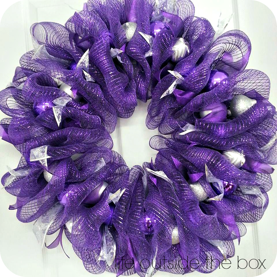 Purple mesh wreaths not so traditional christmas colours deco purple mesh wreaths not so traditional christmas colours baditri Images