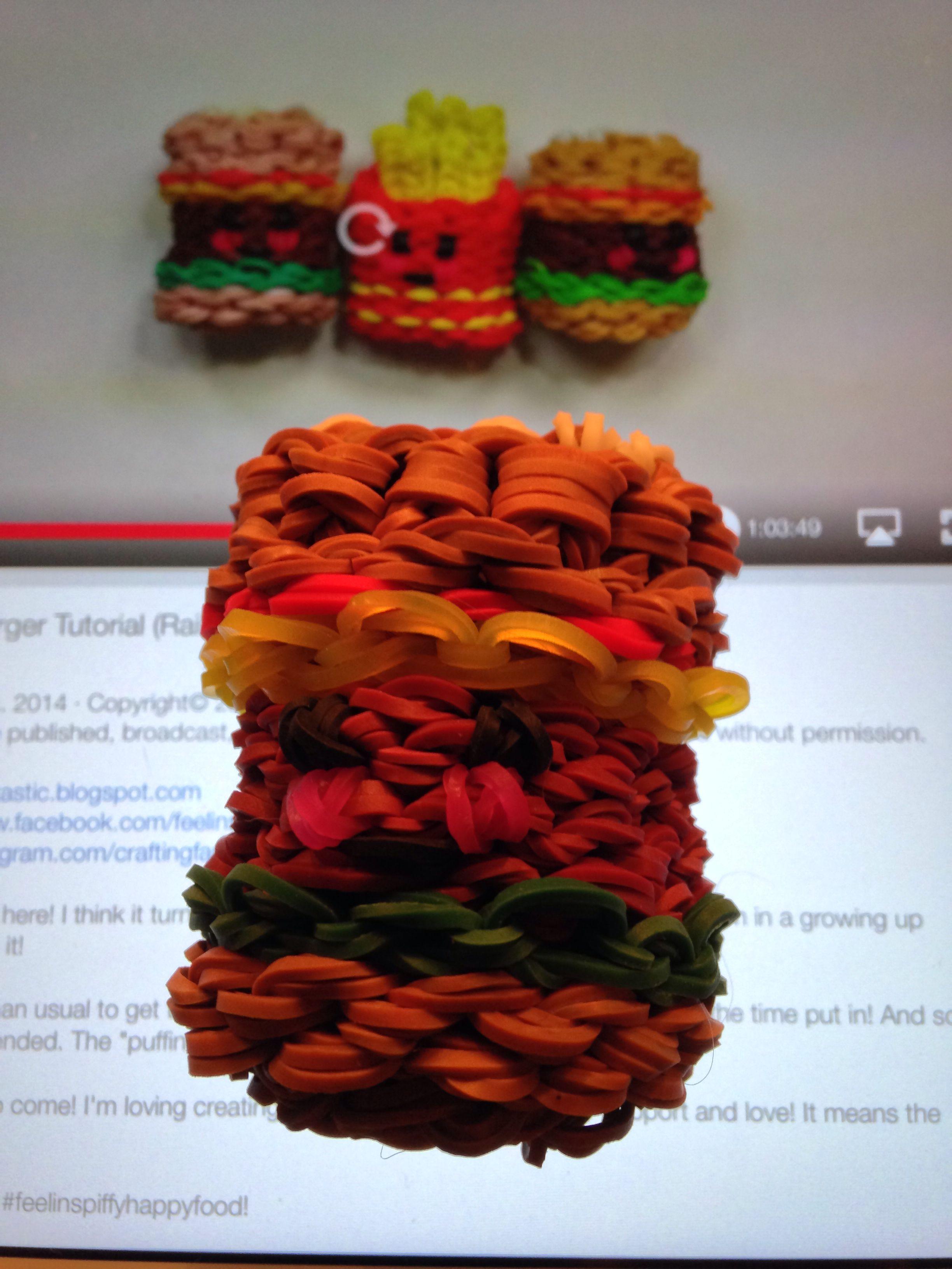 The happy hamburger! It is adorable!   #feelinspiffy