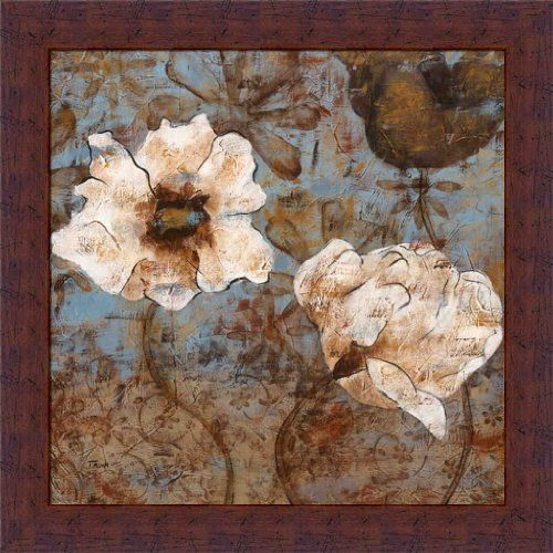 May Flowers I by Katrina Craven Abstract Floral 14x14 Framed Art ...