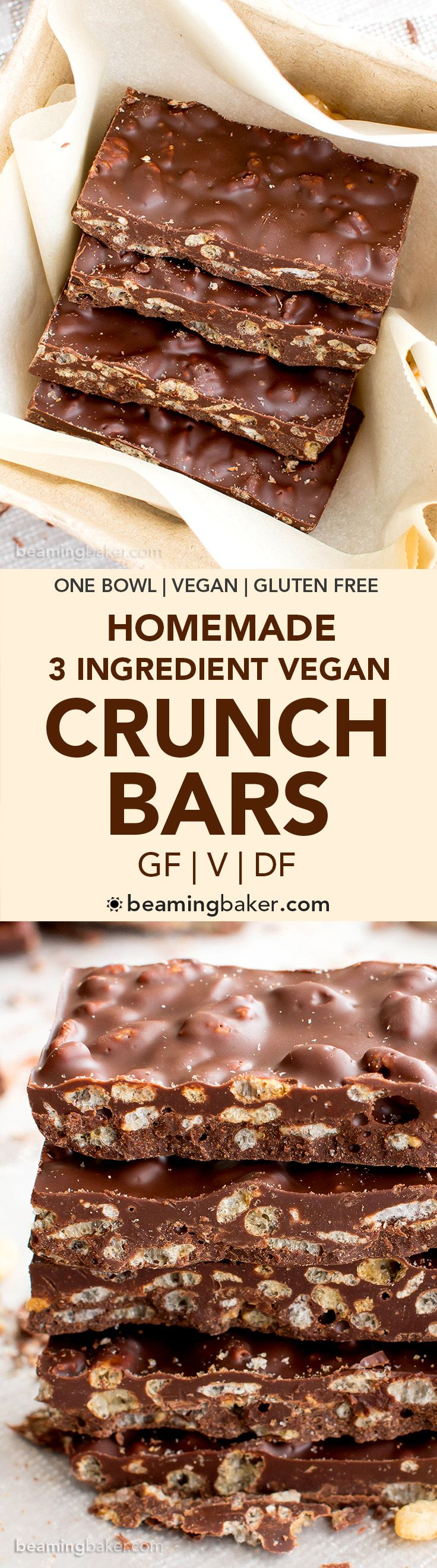 3 Ingredient Homemade Crunch Bars Gf V Df A Quick And