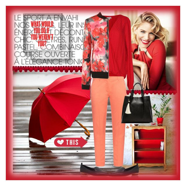 """""""What would you do if you weren't you"""" by musicfriend1 on Polyvore featuring Velvet by Graham & Spencer, Weekend Max Mara, WearAll, Nicholas Kirkwood, Oliveve, Areaware, Kate Spade, Mémoire, red and coral"""