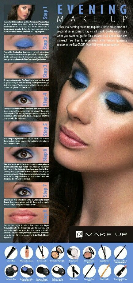 Get the Evening Look using 100 FM Mineral Makeup