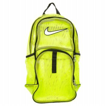 0f97a8b9e052 Accessories Nike Brasilia Mesh Backpack Volt FamousFootwear.com