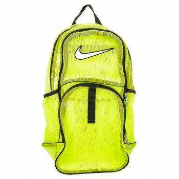 bdc47c980a Accessories Nike Brasilia Mesh Backpack Volt FamousFootwear.com