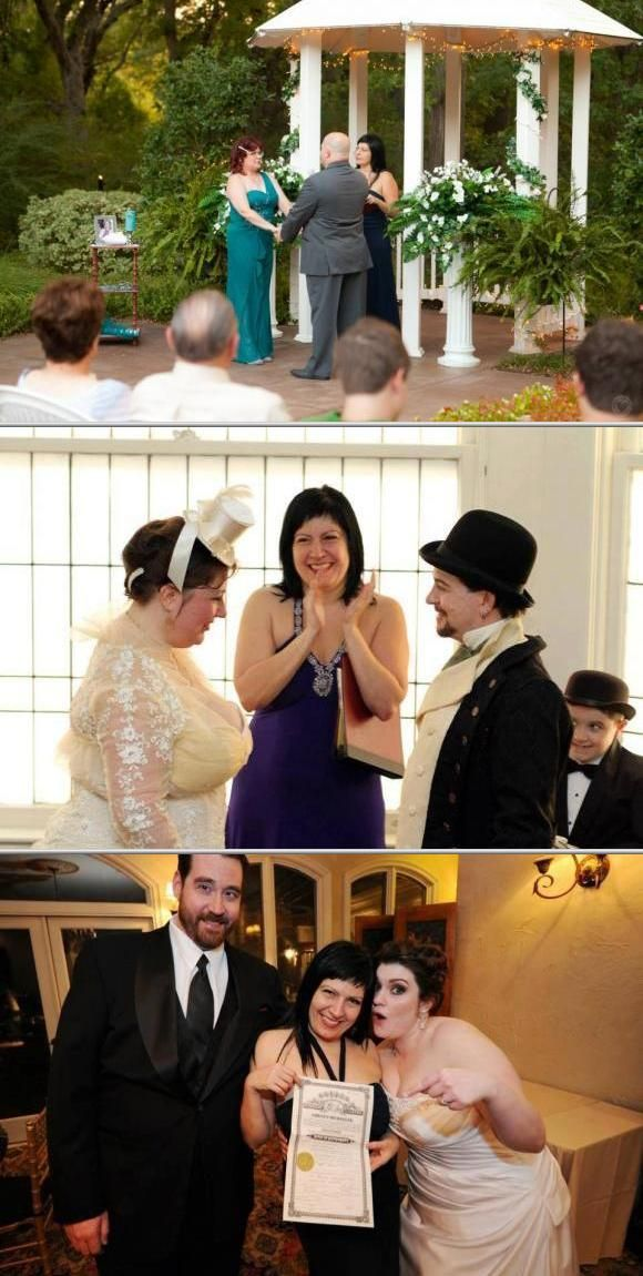 Lisa Carmen officiates themed or simple weddings as