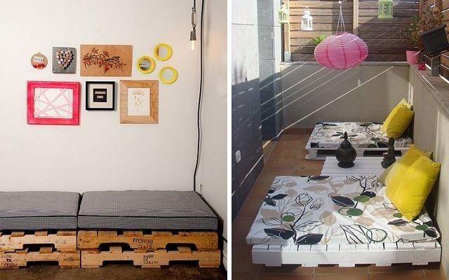 sitzmöbel außen ideen balkon terrasse sofa robust holz Möbel aus