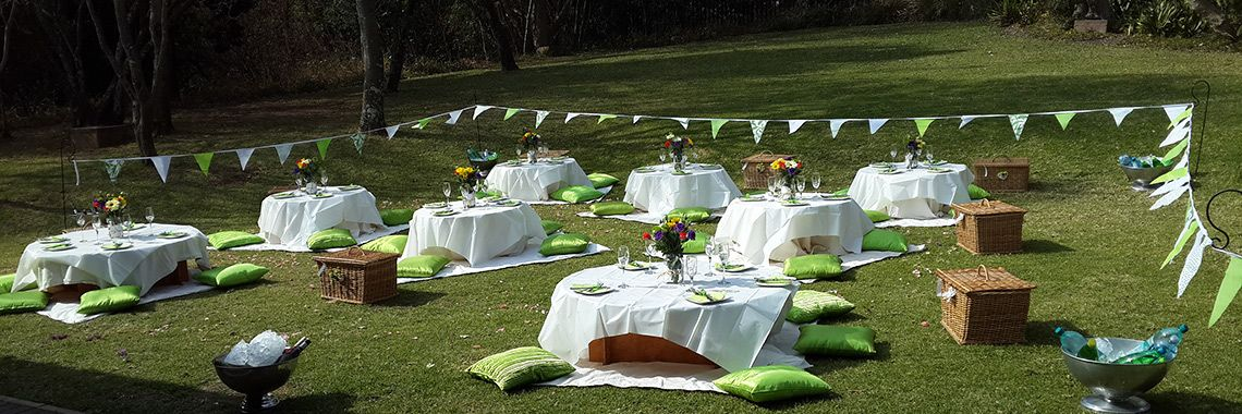casual white picnic bbq lunch postceremony back on the