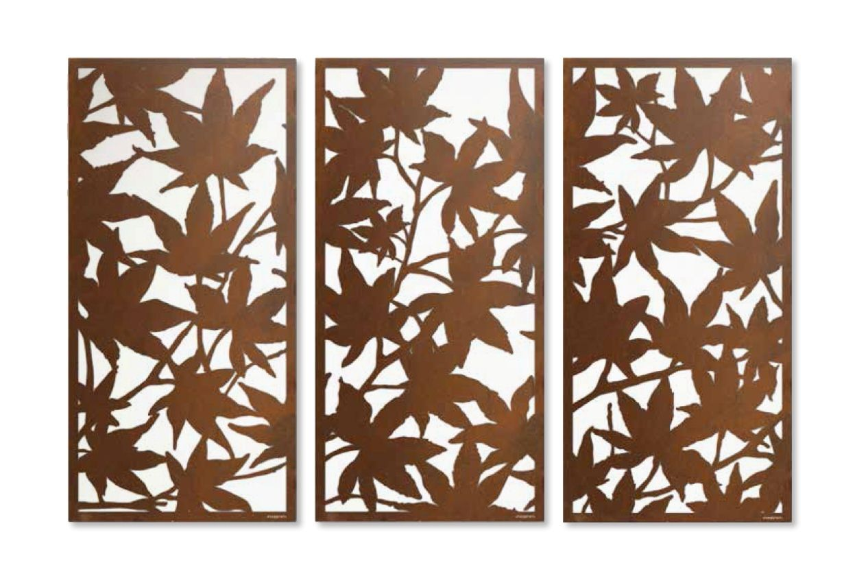 Maple Leaf\' laser cut privacy screen sequence for landscape gardens ...