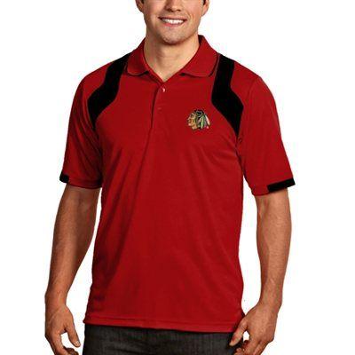 Chicago Blackhawks Antigua Fusion Polo Red Performance Polos Polo Golf Shirts